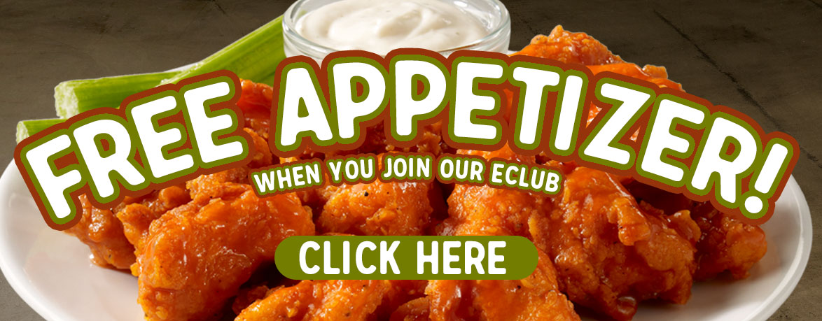 Free Appetizer When You Join Our E-Club