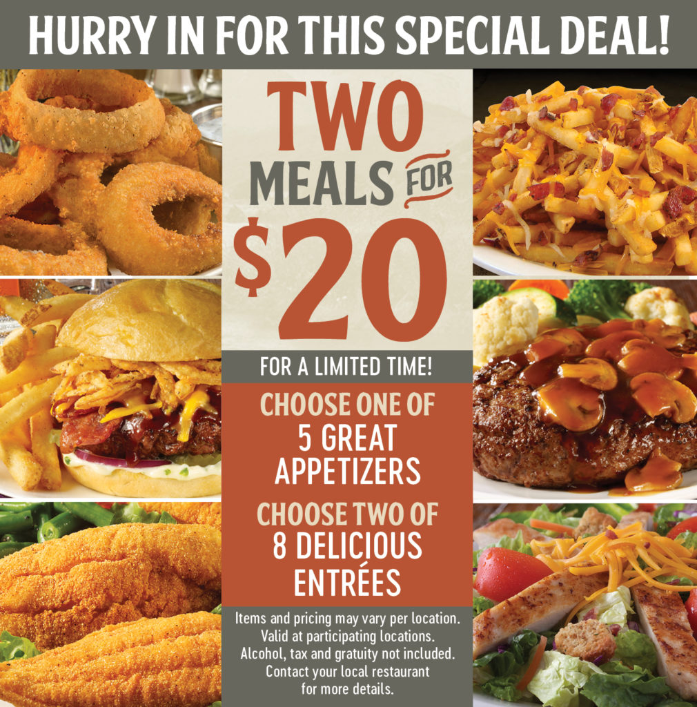 Two Meals for $20