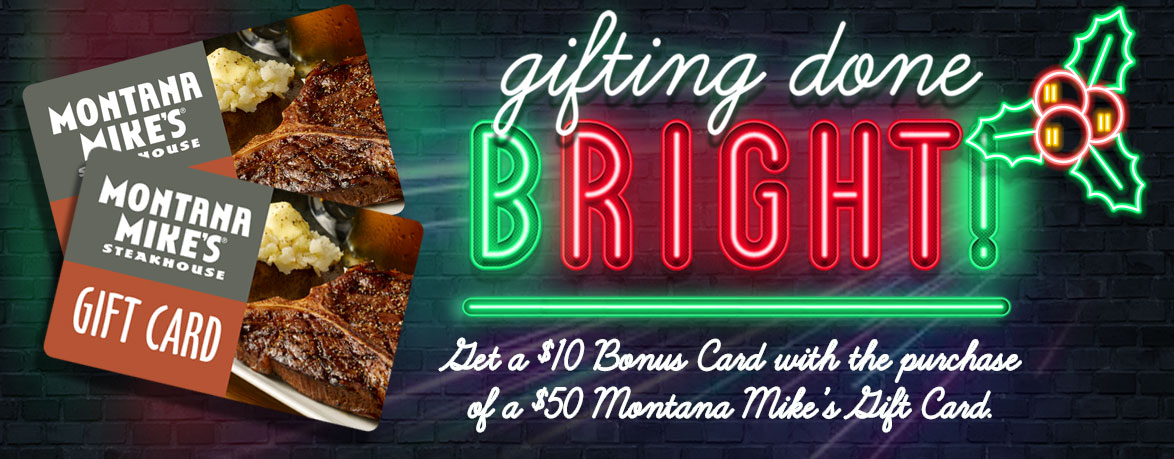 Montana Mike's Gift Cards - Gifting Done Bright